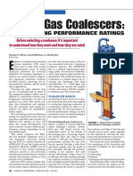 Liquid Gas Coalescers Performance Rating