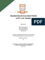 Simulink Based Generalized Model of PV Module