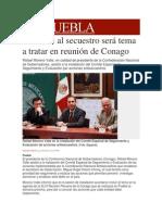 21-02-2014 Milenio.com - Combate al secuestro será tema a tratar en reunión de Conago.pdf