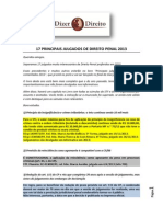 17 Principais Julgados de Direito Penal 2013