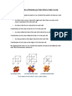 Calculation of Number of Particles Per Unit Cell of a Cubic Crystal System