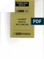 BK-Precision 2800 3,5-Digit DMM 1978 Instr. SM