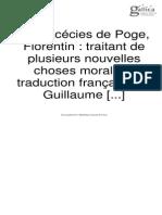 POGGE_Facéties_Contes