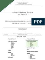 15-At Pietre Artificiali, Laterizi 12-13 - Corso Architettura Tecnica