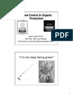 Weed Control in Organic Gardening