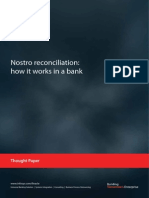 Nostro Reconciliation How It Works in a Bank