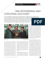 Afghanistan - Withdrawal and Regional Solution