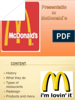 Prezentare McDonalds