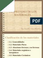 Propiedades de Los Materiales Unidad 1 2014 2