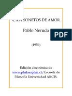 Cien Soneto de Amor - Pablo Neruda