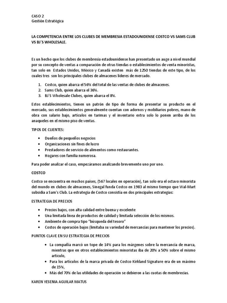La Competencia Entre Los Clubes de Membresia Estadounidense Costco ...