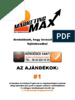 MarketingMAX ajándékok