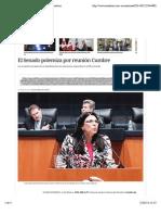 21-02-14 El Senado polemiza por reunión Cumbre I Excélsior