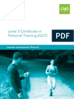 l3 Certificate in Personal Training Lar Fillable