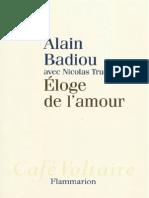 Badiou Alain-Éloge de l'amour