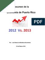Resumen Economico PR 2012 Vs 2013