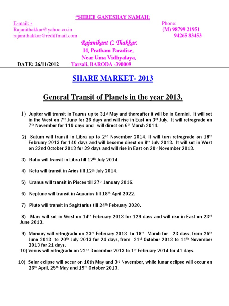 Sharemarket-2013 | Planets In Astrology | Pisces (Astrology)