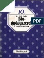 Biofüzetek 10 - Oláh Andor - Biogyógyszerek