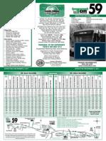 TOR 59 Schedule