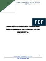 Parametros Basicos y Control de La Calidad Del Agua Para Consumo Humano Ayapel