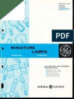 GE Miniature Lamp Catalog 1970