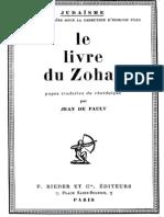 Jean de Pauly Le Livre Du Zohar