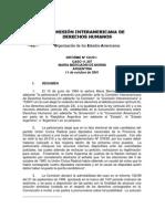 28- Informe Nº 10301 – CIDH -  Caso  María Merciadri de Moroni vs. Argentina (cupo femenino)