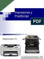 Impresoras y PostScript