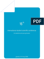 Brochure 16th International Student Scientific Conference (ISSC)