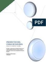 PRODUCTOS DEL CURSO DE ESPAÑOL