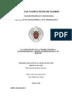 MARÍA BENÉITEZ ROMERO - LA CIUDADANÍA EN LA TEORÍA POLÍTICA CONTEMPORÁNEA