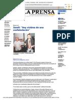 """La Prensa - Nacionales - Jasell_ """"Soy víctima de una confabulación"""""""