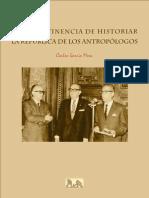 Impertinencia de Historiar