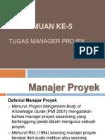 Tugas Manajer Proyek