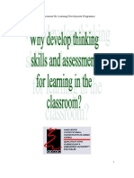 Why Develop Thinking Skills and AFL in the Classroom