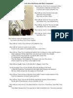 Prayer of St. Pio of Pietrelcina
