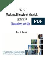 E4215 Lec10 Dislocations+and+Slip II