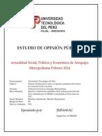 ESTUDIO DE OPINIÓN PÚBLICA  - FEBRERO 2014 UTPAQP