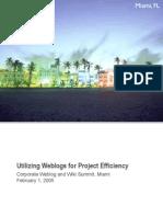 Utilizing Weblogs for Project Efficiency