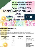 Tips BM UPSR Kertas 1