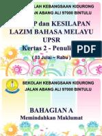 Tips BM UPSR Kertas 2