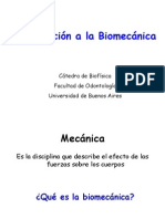Introduccion a la Biomecánica