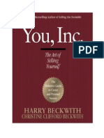 You, Inc. the Art of Selling Yourself - Harry Beckwith, Christine Clifford
