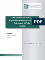 Perfil Epidemiológico HDPUV año 2012