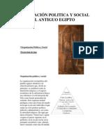 ORGANIZACIÓN POLITICA Y SOCIAL DEL ANTIGUO EGIPTO