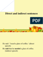 Direct and Indirect Sentences