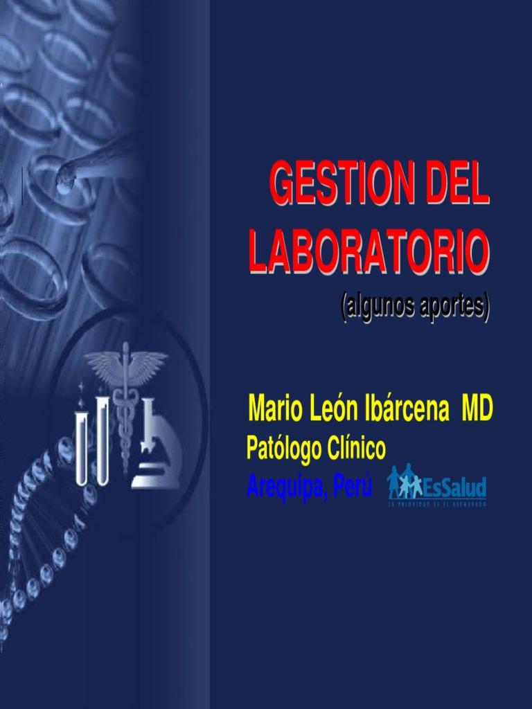 gESTION laboratorio