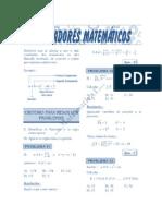 Problemas Resueltos Operadores Matematicos Solucionario