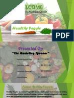 mkt plan presentation of healthy veggie
