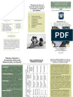 TRIPTICO-INDICADORES NACIONALES E INTERNACIONALES DEL DESARROLLO HUMANO ASOCIADOS A LA EDUCACIÓN
